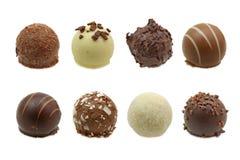 zestaw czekoladę trufle Obrazy Stock