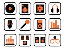 zestaw ikony muzyki Obrazy Royalty Free