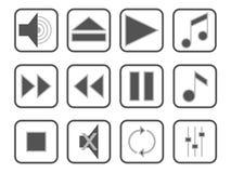 zestaw ikony muzyki Obraz Stock
