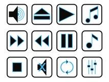 zestaw ikony muzyki ilustracji