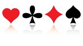 zestaw karty gry Fotografia Royalty Free