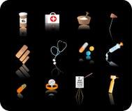 zestaw medyczny ikony Obraz Royalty Free