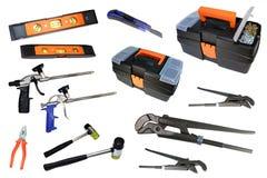 zestaw narzędzi budowlanych narzędzie naprawy Zdjęcie Stock