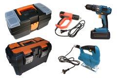 zestaw narzędzi budowlanych narzędzie naprawy Fotografia Stock