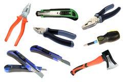 zestaw narzędzi budowlanych odosobniony narzędzie Zdjęcie Royalty Free