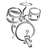 Zestaw perkusja instrumenty ilustracja wektor