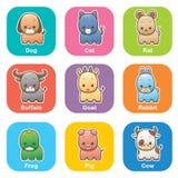 zestaw zwierząt Obraz Stock