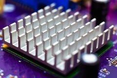 Zestawu chipów heatsink Zdjęcia Stock