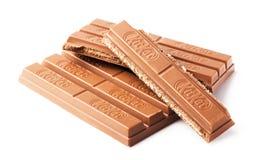 Zestawu Kat czekoladowy bar Fotografia Stock