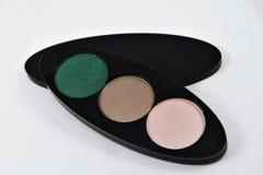 zestawy cienie oko Na białym tle Zielona eyeshadow paleta Obraz Royalty Free