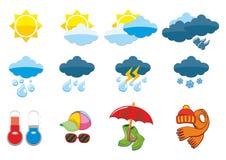 zestawy ikoną pogoda royalty ilustracja