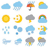 zestawy ikoną pogoda ilustracja wektor
