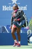 Zestien keer Grote Slagkampioen Serena Williams in Billie Jean King National Tennis Center Royalty-vrije Stock Afbeeldingen