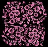 Zestien roze bloemontwerp Royalty-vrije Stock Foto