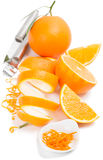 Zesting an orange Royalty Free Stock Photography