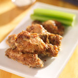 Zesty garlic parmesan chicken wings Stock Photos