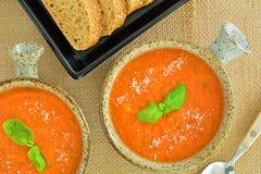 Free Zesty Tomato Basil Soup Stock Photo - 156523610