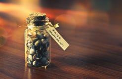 Zeszłe Lato butelka wspominki zdjęcie royalty free
