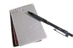 zeszyt długopis zdjęcie stock
