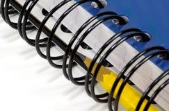 zeszyt ołówka spirali zdjęcie stock