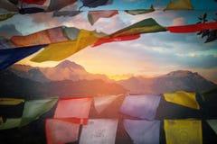 Zet Annapurna op Royalty-vrije Stock Afbeelding