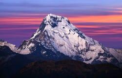 Zet Annapurna-Zuiden, Nepal op royalty-vrije stock foto's