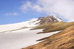 Zet Aragats (Zuidenpiek) op stock fotografie