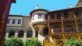 Zet Athos, Chalkidiki Griekenland - binnen klooster van Karakalou op Royalty-vrije Stock Foto
