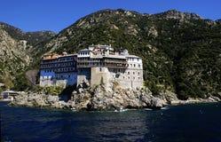 Zet Athos in Griekenland op Royalty-vrije Stock Afbeeldingen