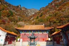 Zet Bailongshan-de herfst, Shanxi, China op stock afbeelding