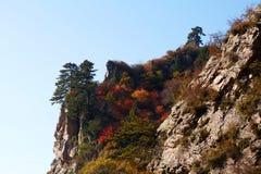 Zet Bailongshan-de herfst, Shanxi, China op royalty-vrije stock foto