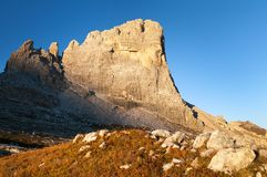 Zet Beco DE Mezodi, het dolomietbergen van Alpen op Royalty-vrije Stock Foto