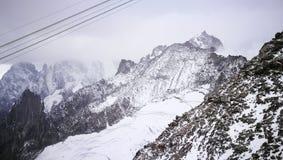 Zet Blanc-gletsjer van Italiaanse grens op Royalty-vrije Stock Afbeelding