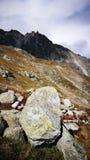 Zet Blanc van Italiaanse grens op Stock Fotografie
