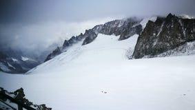 Zet Blanc van Italiaanse grens op Royalty-vrije Stock Foto