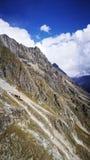 Zet Blanc van Italiaanse grens op Stock Afbeeldingen