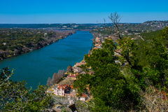 Zet Bonnell Austin Texas Overlook op Royalty-vrije Stock Fotografie