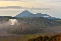 Zet Bromo, een actieve vulkaan in Oost-Java op Royalty-vrije Stock Foto's