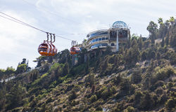 Zet Carmel Cable-auto op haifa israël Stock Afbeeldingen