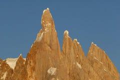 Zet Cerro Torre op. Royalty-vrije Stock Foto's