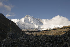 Zet Cho Oyu, Nepal op royalty-vrije stock foto