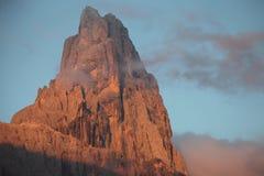Zet Cimon-della Pala (Dolomiet) op Royalty-vrije Stock Afbeelding