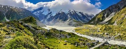 Zet Cook National Park - Nieuw Zeeland op Stock Fotografie