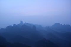 Zet Danxia-zonsopgang op Royalty-vrije Stock Foto's
