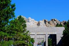 Zet de Nationale Herdenkingsrushmore Grote mening van Rushmore op royalty-vrije stock foto