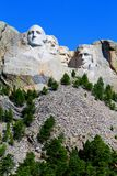 Zet de Nationale Herdenkingsrushmore Grote mening van Rushmore op stock foto