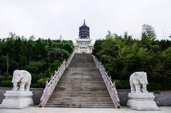 Zet de Pagode van Putuo op Boedha Stock Foto's