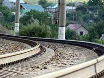 Zet de spoorweg aan Stock Afbeeldingen