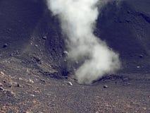 Zet de vulkaan van Etna in actie op Royalty-vrije Stock Afbeelding