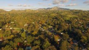 Zet Diablo-bergketen contracosta county northern california op stock footage